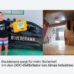Mobiler DOC Defibrillator macht Kletterhalle sicherer | Kundenreferenz | ALMAS INDUSTRIES