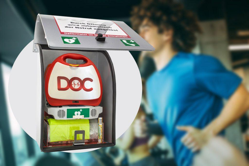 Herzinfarkt in Fitnessstudios | DOC-Defibrillator Almas Industries
